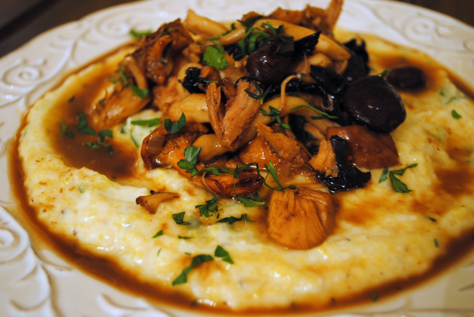 ... polenta with wild mushrooms recipe yummly polenta with wild mushrooms